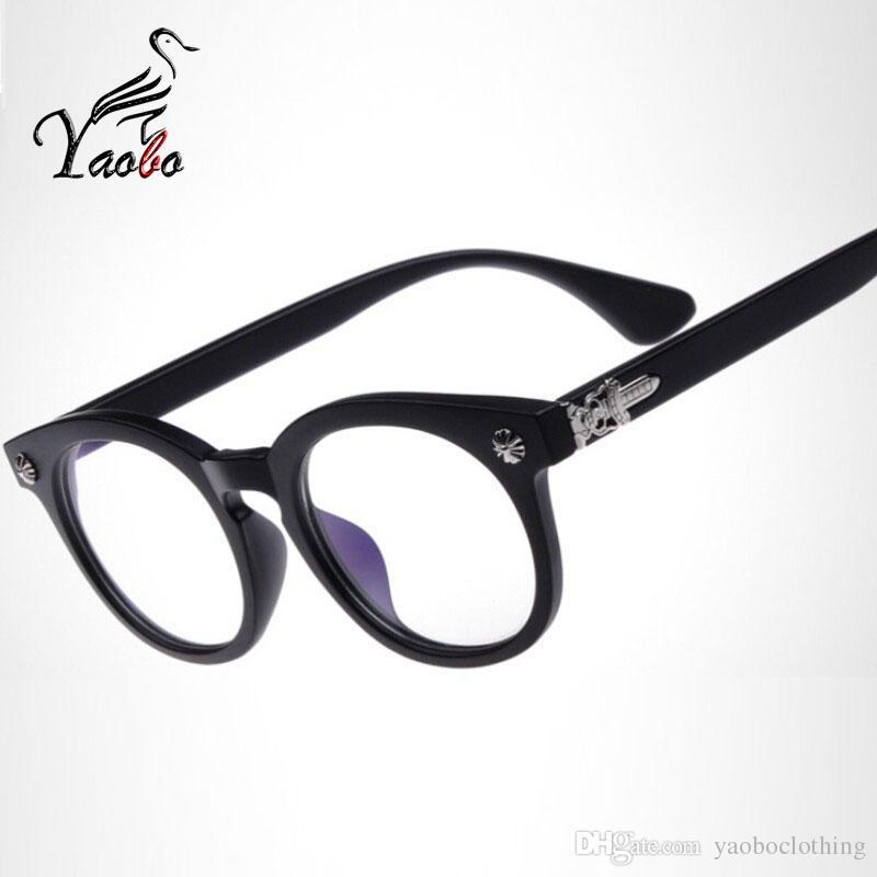26ed896d3 Compre Yaobo New Vintage Óculos Homens Moda Armações De Óculos De Olho Marca  Eyewear Para Mulheres Armacao Oculos De Grau Femininos Masculino De ...