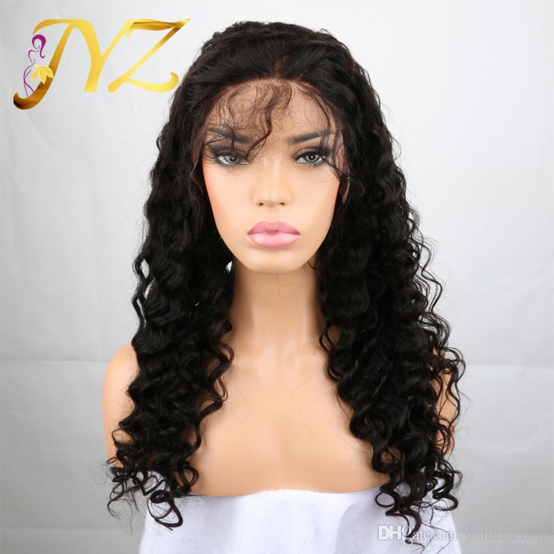Perruques de cheveux humains Lace Front brésilien Malaysian Indian cheveux bouclés Full Lace Perruque Remy Vierge Cheveux Lace Front Perruques Pour Les Femmes Noires
