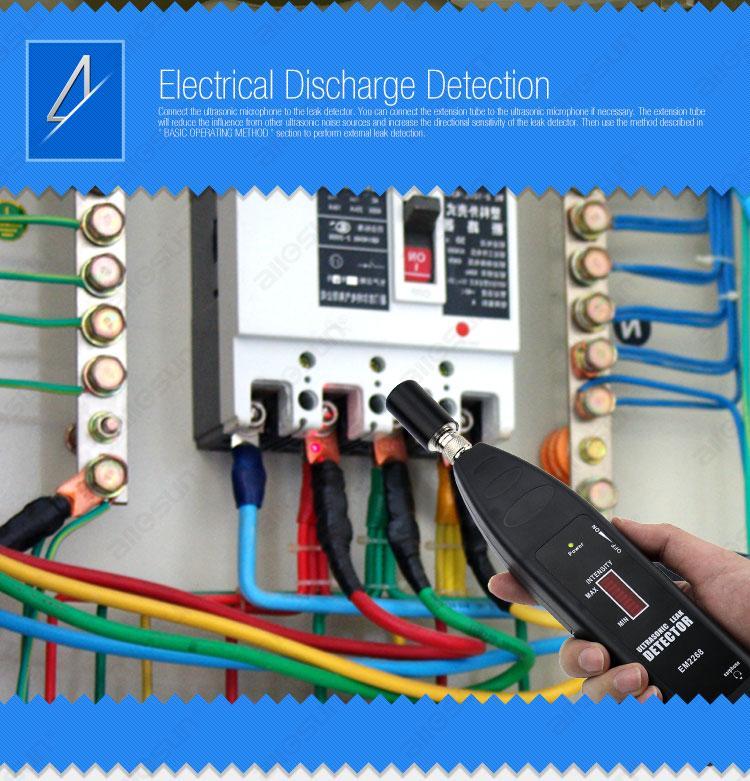 LED 디스플레이의 모든 - 일 모델 EM2268와 프로 휴대용 초음파 감지 누설 감지기 소닉 웨이브 송신기 진공 진단 도구