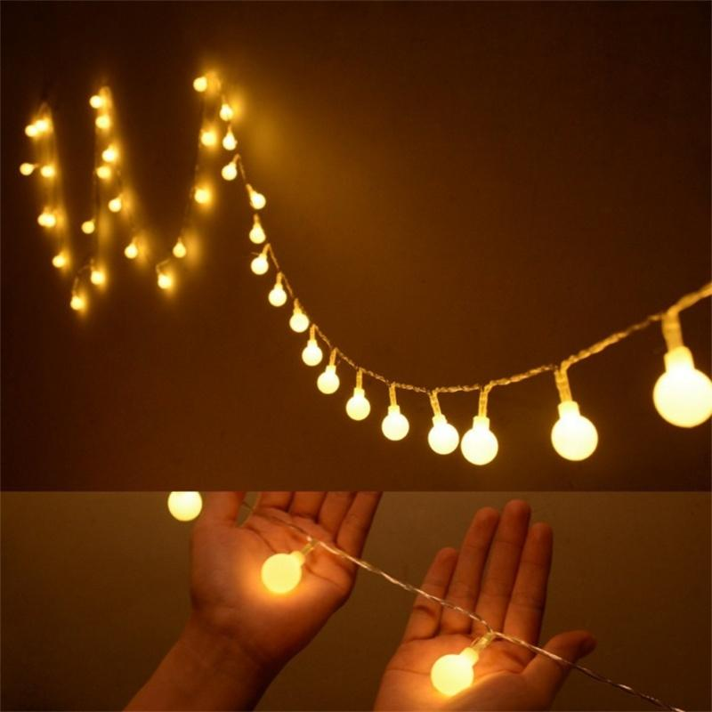 Led Globe String Lights Ball Christmas Lights Indoor Outdoor Decorative Light Usb Powered  Ft Warm White Light Color Changing Led String Lights