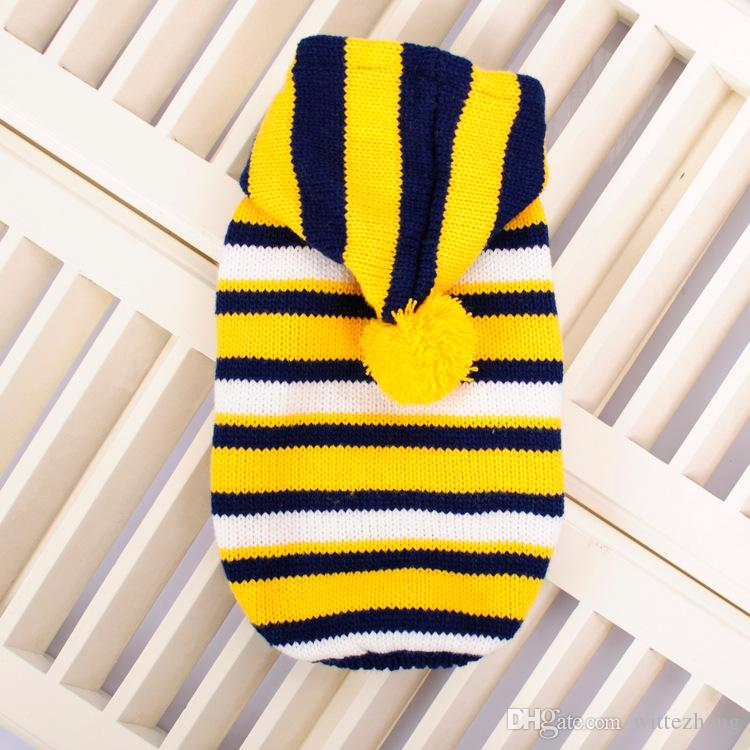 autumn and winter small lagre dog clothes striped dog sweater size S-XL pet dog clothes chihuahua