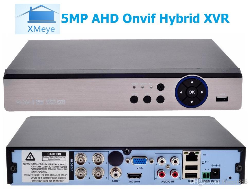 Xmeye app 5IN1 4CH 5MP@11FPS/CH AHD DVR NVR XVR CCTV 5MP Hybrid Security  Recorder Camera Onvif RS485 Coxial Control P2P Cloud