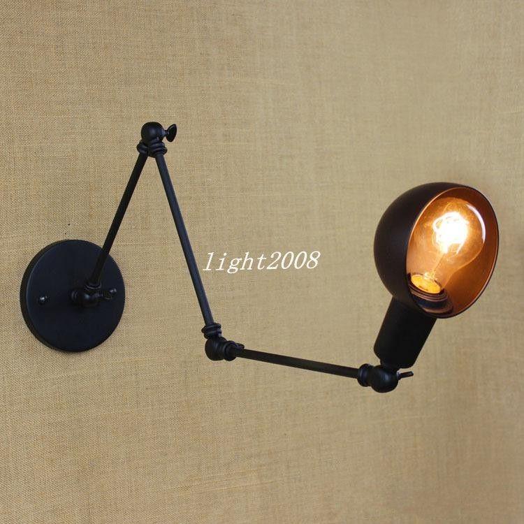 110-240V Personnalité Long Bras Réglable Angle Bar Trois Rétro Salon Lampes Éclairage Décoratif Applique Murale