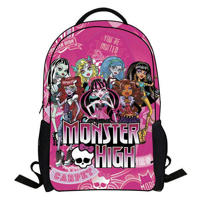 eb67366f3c Acquista 2016 Nuovo Cartone Animato Monster High Zaino Bambini Zainetto  Scuola Studente Sacchetto Di Libro Ragazzi Bambini Ragazze Borse Sacchetti  Di Scuola ...