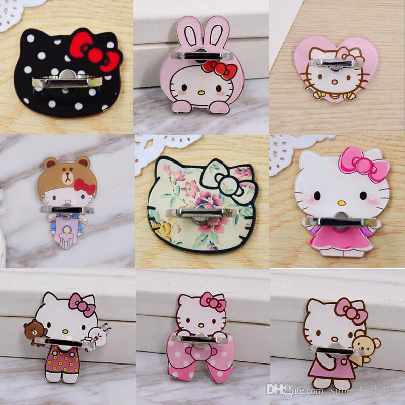 Universal 360 Degree Cute Cartoon Finger Ring Holder Phone Stand For iPhone 7 6s Samsung For Mobile Phones
