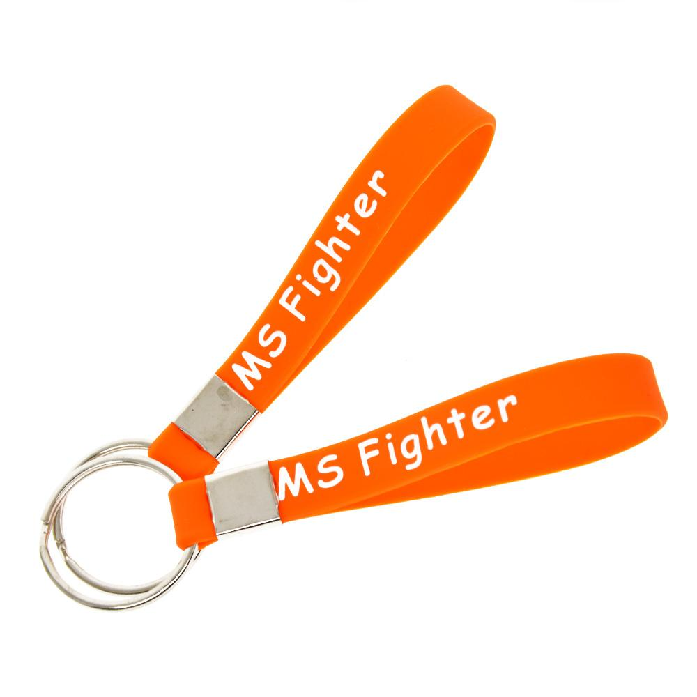 Ms Fighter Never Give Up Silicone Key Ring Inspirational Bracelet Keychain Great To Used In Any Benefits Gift