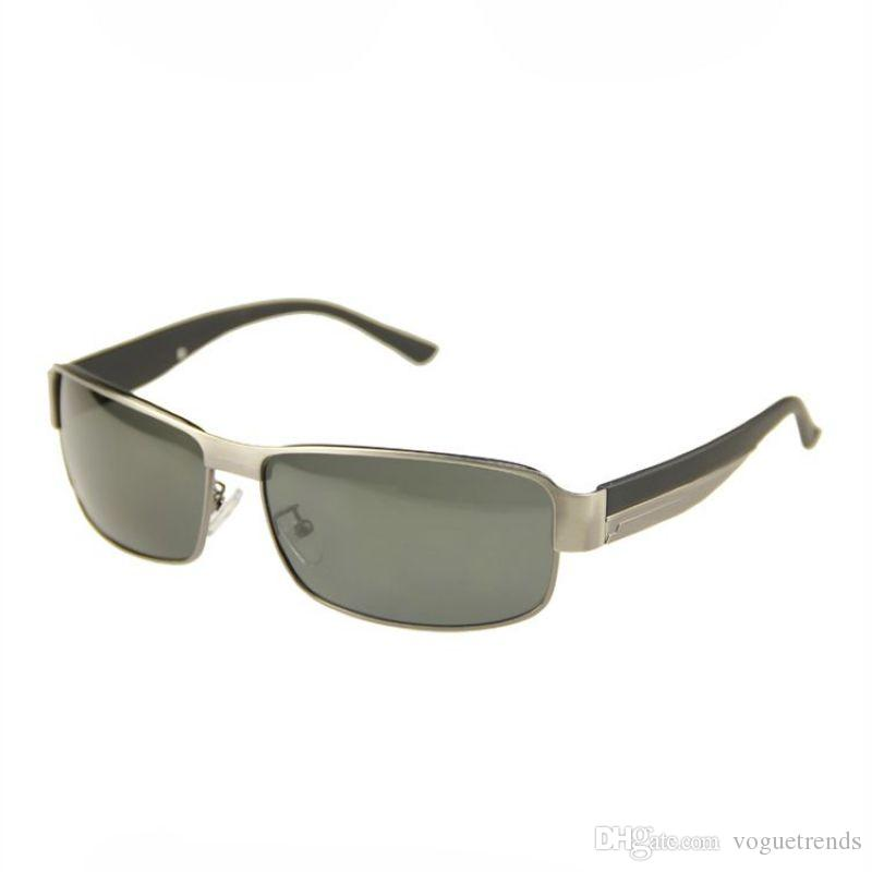 1f649e84338 Polarized Car Driving Sunglasses For Men Rectangle Metal Frame Anti ...