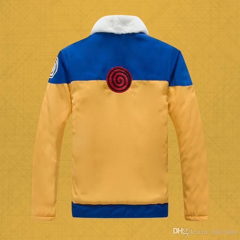 Naruto Uzumaki Costume Hoodies Anime Winter NEW Thicken Hoody Uzumaki Naruto re-make Jacket Cosplay Costume