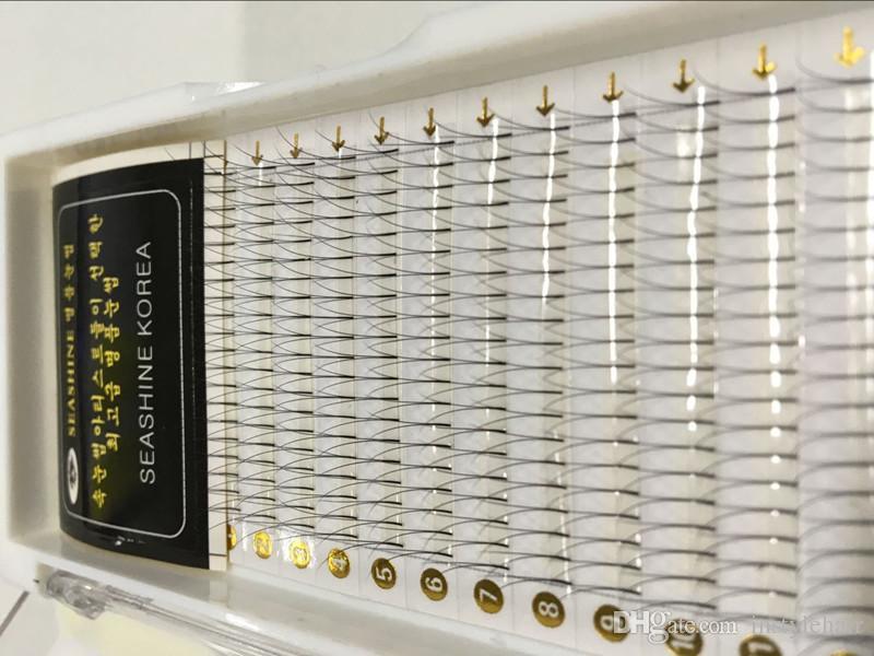 Natural eyelashes 2D Black Individual Silk Y Lash False Eyelashes Extension for make up beauty 2D lashes fans
