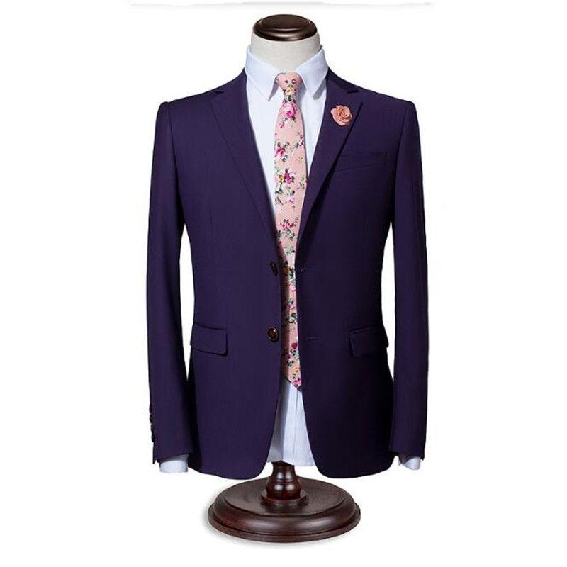 Men suits jacket stylish elegant bridegroom wedding tuxedos jacket solid color single breasted formal business suits jacket