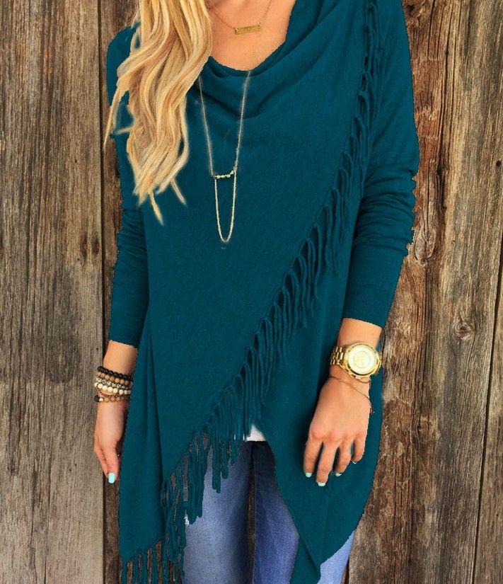 Kadınlar Için Yeni Sonbahar Hırka Rahat Elbiseler Uzun Kollu Ince Püskül Slash Kış Örme Giyim Mavodovama Midi Elbiseler Moda