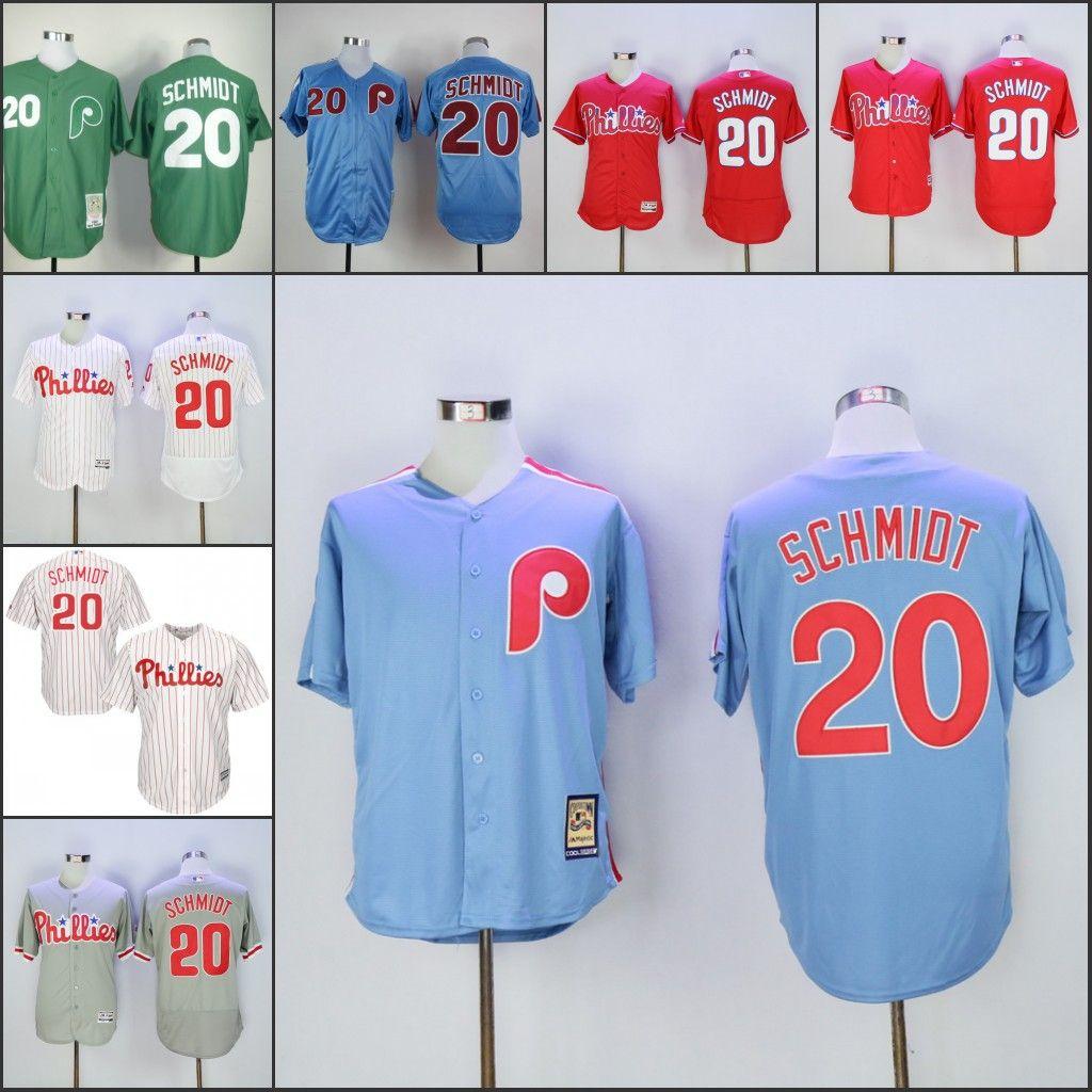 buy online c1b1b 94e25 philadelphia phillies 20 schimdt gray throwback jersey