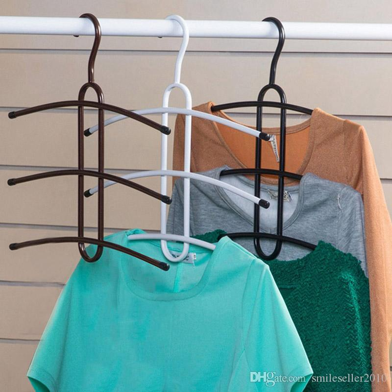 Iron Hangers for Clothes Multilayer Magic Fishbone Storage Closet ...