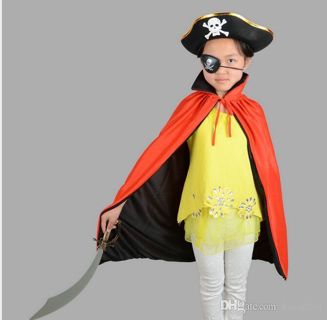 Cadılar bayramı cosplay Korsan Göz Yama Kafatası Crossbone Cadılar Bayramı Festivali Parti Favor Çanta Kostüm Çocuklar Oyuncak Eyepatch parti maskeleri