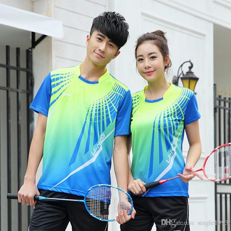 2019 Hot Badminton Clothing Men / Women Tennis Wear Short Sleeved Shirts  Absorbent Breathable Casual Sportswear From Single1993, $11.17