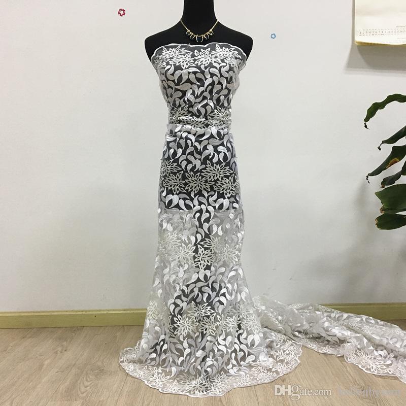 Vendite calde Africano svizzero Net Cord Lace, 059 Spedizione gratuita 5 yards / pack, Tulle Lace Net Guipure African Wedding Party