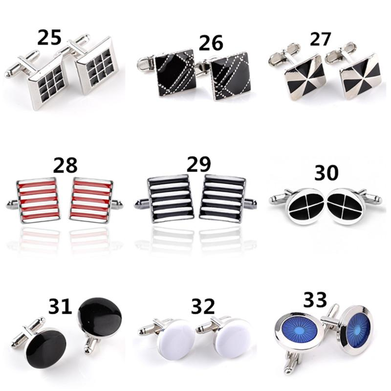 2019 Newly Men Cufflinks Alloy French Enamel Cuff Links Silver Plated Shirt Business Suit Cuff Links For Wedding Jewelry Accessories