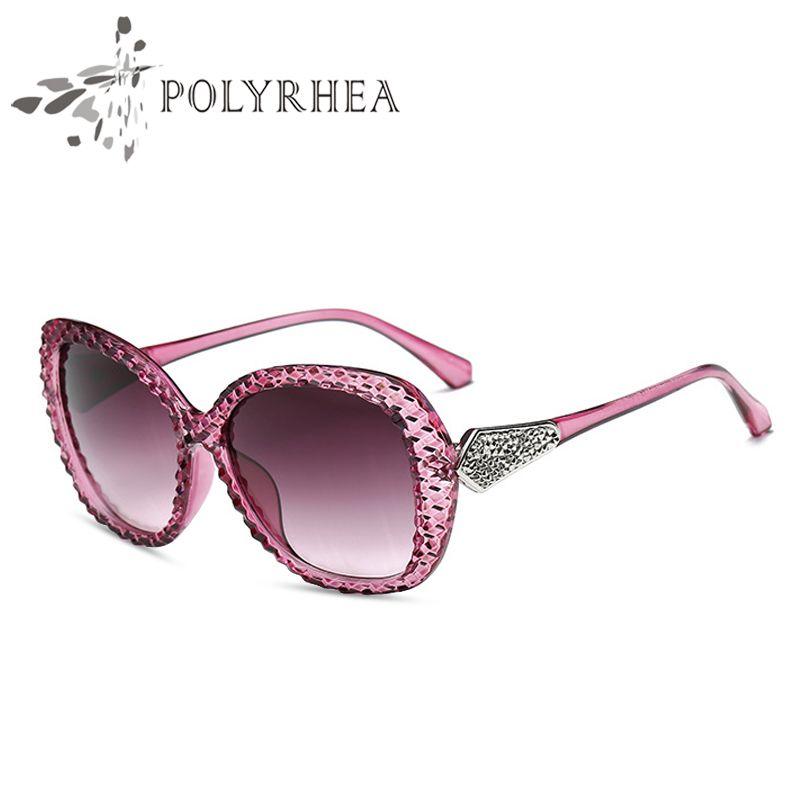 14b820c9446 High Quality Sunglasses Vintage Women Brand Designer Black Oversized ...