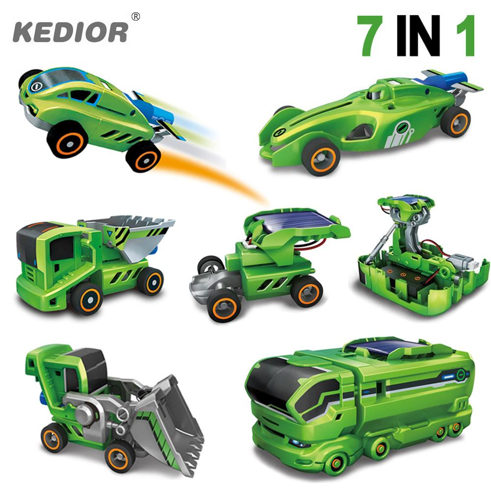 wholesale new 7 in 1 solar car kit educational solar power robot diy assembled science toys for kids truck car diy electric toy gifts solar dancing toys at