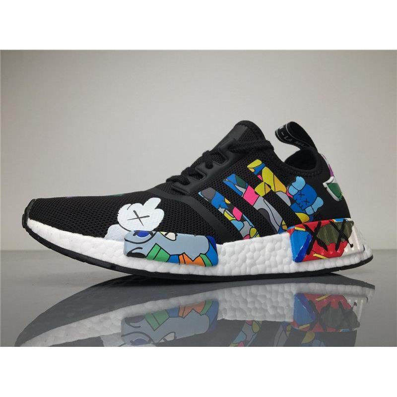 f2d2390f8c94c Originals KAWS X NMD S31526 R1 Real Boost Running Shoes Womens Mens Kaws  NMDS Sneakers Men