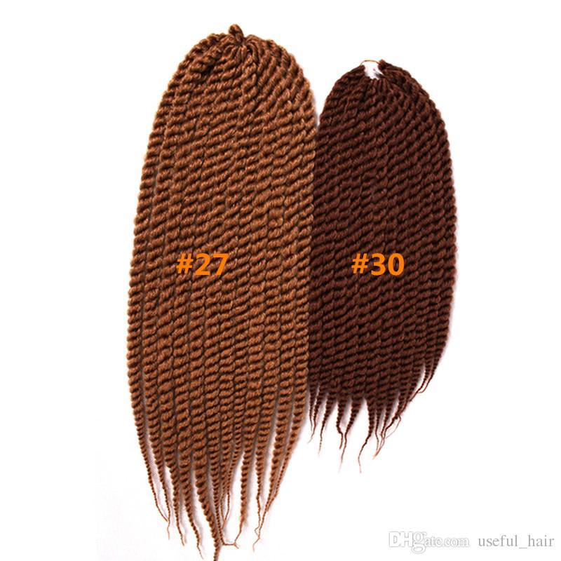 Havana mambo twist european hair for braiding 12 18inch crochet braid hair 2x Havana twist ombre synthetic for braids freetress hair 2020