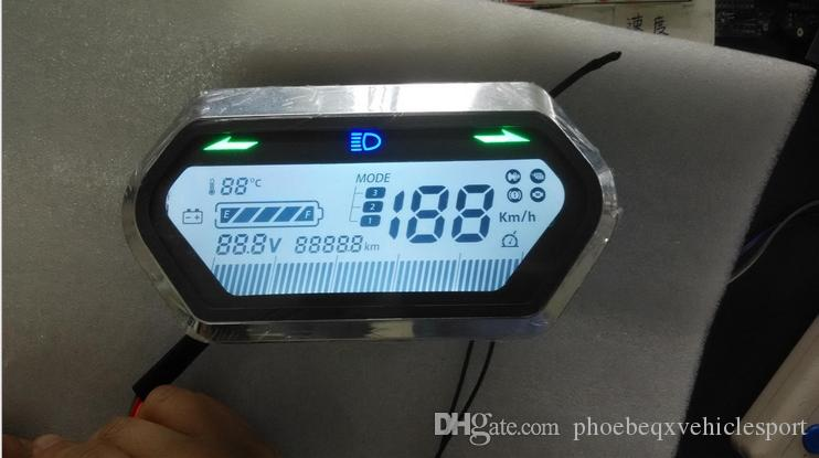 2017 48v 72v Speedometer Battery Indicator Lcd Display