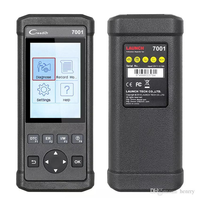 Original Lançamento DIY Code Reader CReader 7001F Completa Ferramenta de Varredura Scanner OBD2 Com Óleo EPB BMS ABS Sangramento Serviço CR7001F 7001