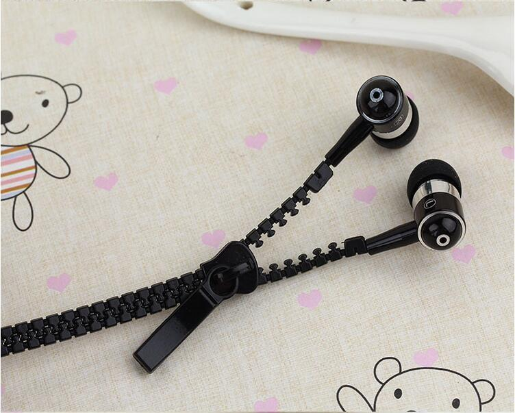 Mehrfarbenreißverschluss-Kopfhörer-Kopfhörer 3.5MM Jack-Bass-Ohrhörer In-Ohr Zip-Kopfhörer-Kopfhörer