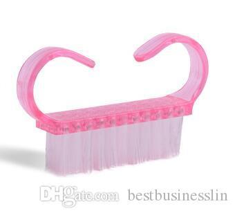 Venta caliente Pink Nail Art Dust Brush Nails Herramienta de Limpieza de Polvo Manicura Pedicura Herramientas Accesorios Mini Cepillos de Uñas