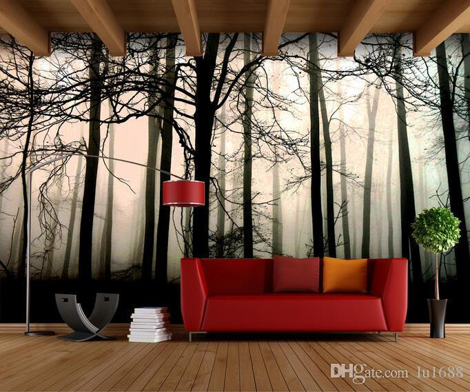 Retro Nostalgic Black And White Forest Artistic Painting Large Murals Wallpaper  Living Room Bedroom Wallpaper Painting TV Backdrop 3D Wallpa Part 65