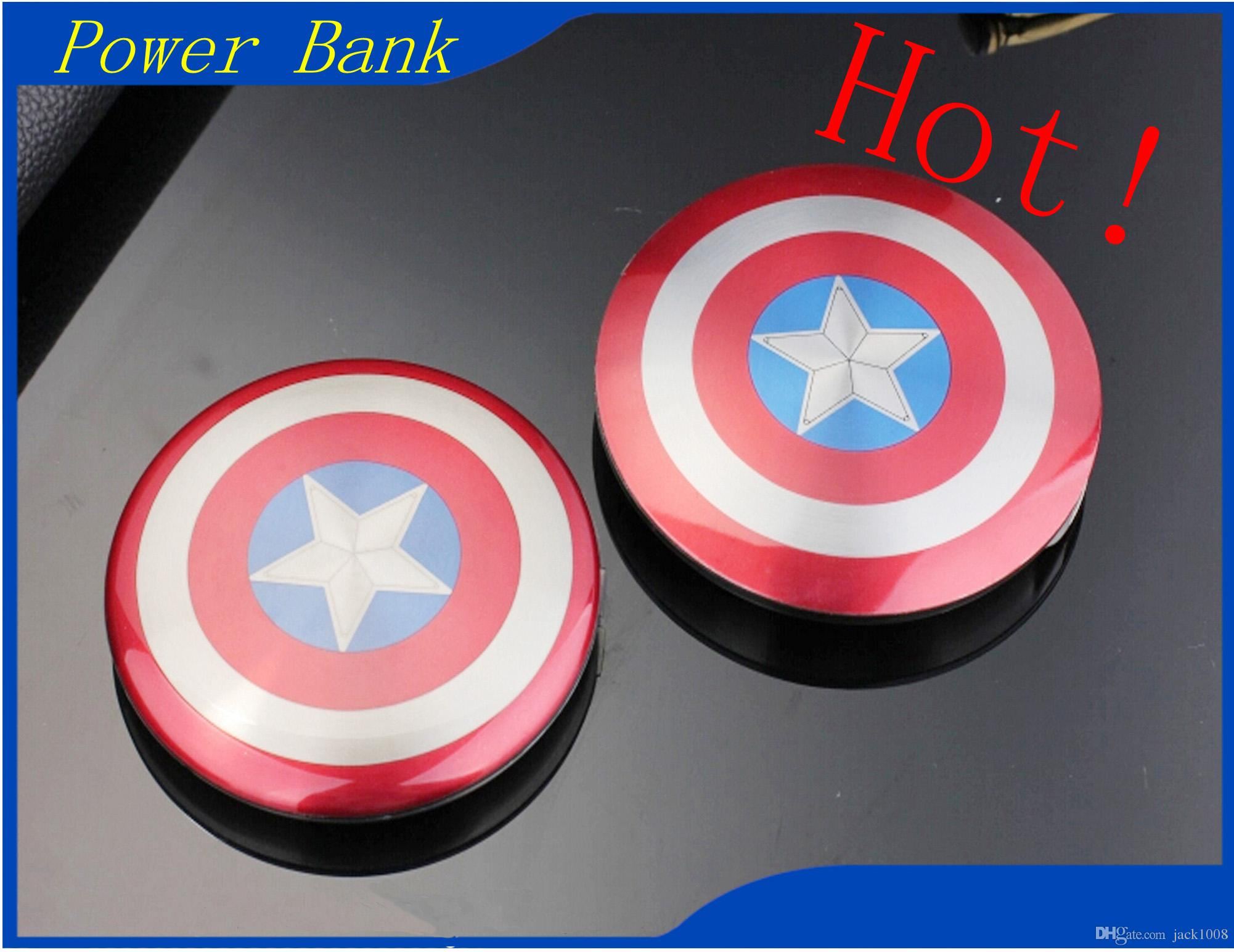 2e696dd7be672e 2019 2017 Hot Sale Wholesale High Quality Portable Power Bank Popular Captain  America Avenger 6800mah Double USB For Mobile Phone From Jack1008, ...