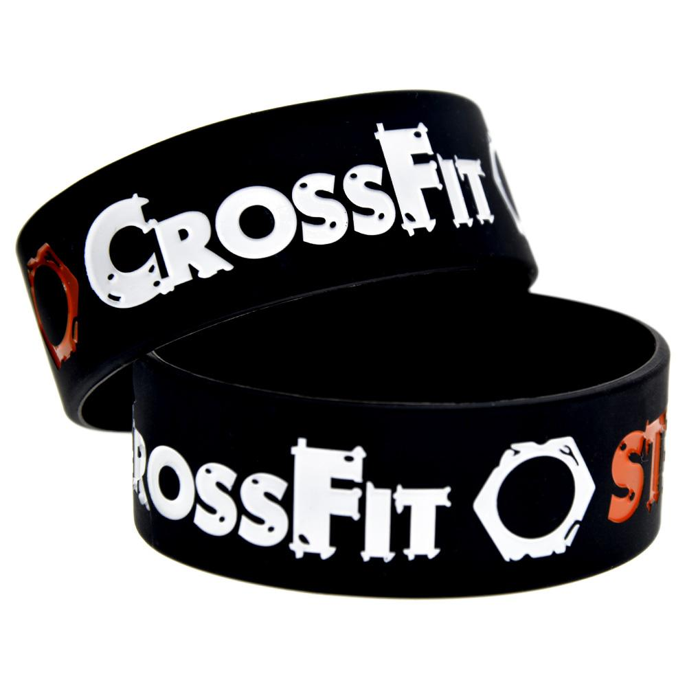 CrossFit Steampunk Silicone Wristbands Bracelet 1 Inch Wide Bangle Perfect To Use In Any Benefits Gift