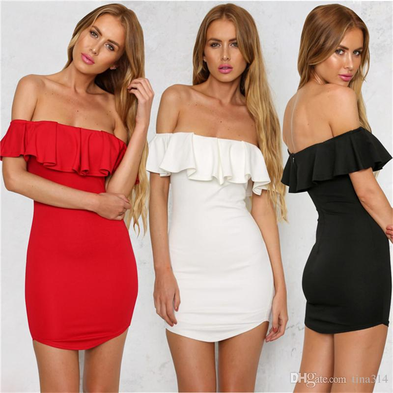 46954891221bf New Fashion black sexy dress deep boat neck dresses perspective tight dress  party dress free shipping BB012