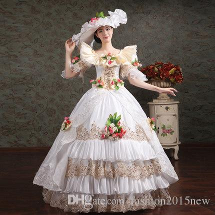 Marie Antoinette Masquerade Dresses Renaissance Southern Belle Ball ...