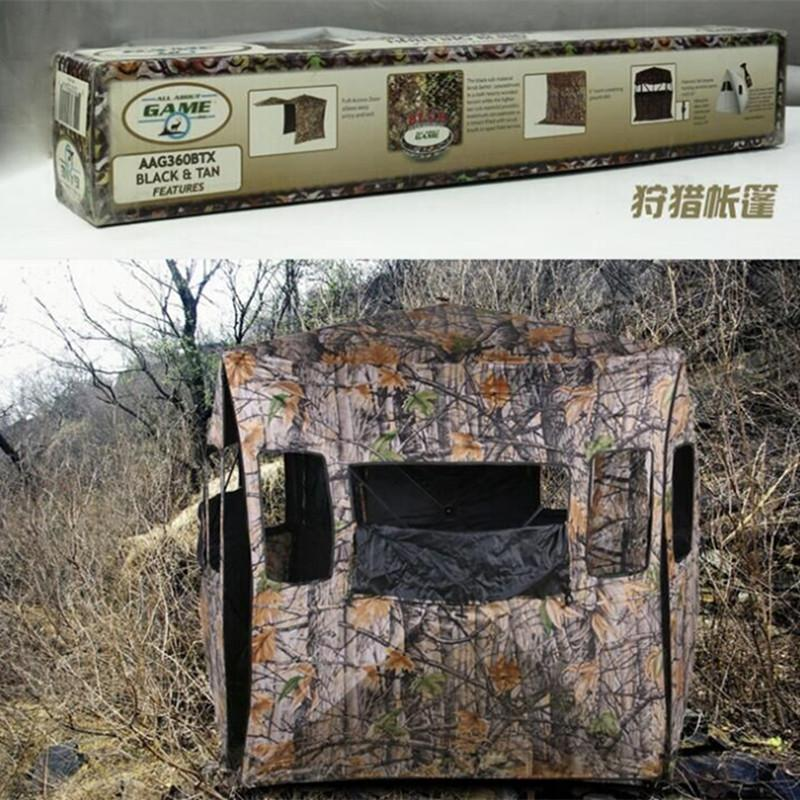 Wholesale-Bionic Camouflage Jungle Wilderness Photography Birdwatching 2persons Hidden Bunker Camouflage Hunting Tent Free Open Tent Tent 8 Tent Light Tent ... & Wholesale-Bionic Camouflage Jungle Wilderness Photography ...