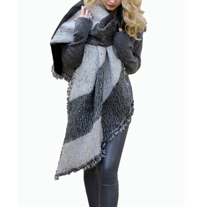 Acheter Vente Chaude 2017 Automne Hiver Femmes De Mode Couverture Écharpe  Femme Cachemire Pashmina Laine Écharpe Châle Chaud Épais Foulards Cape Wraps  De ... 1fdf05c41c3