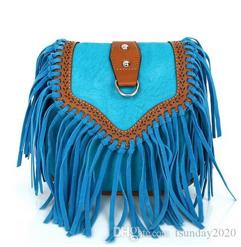 63879a8a7b Fashion Small Tassel Bag Women Bags Ladies Casual PU Leather Fringe Saddle  Crossbody Messenger Shoulder Bag Bolsa Feminina Luxury Handbags Leather  Handbag ...
