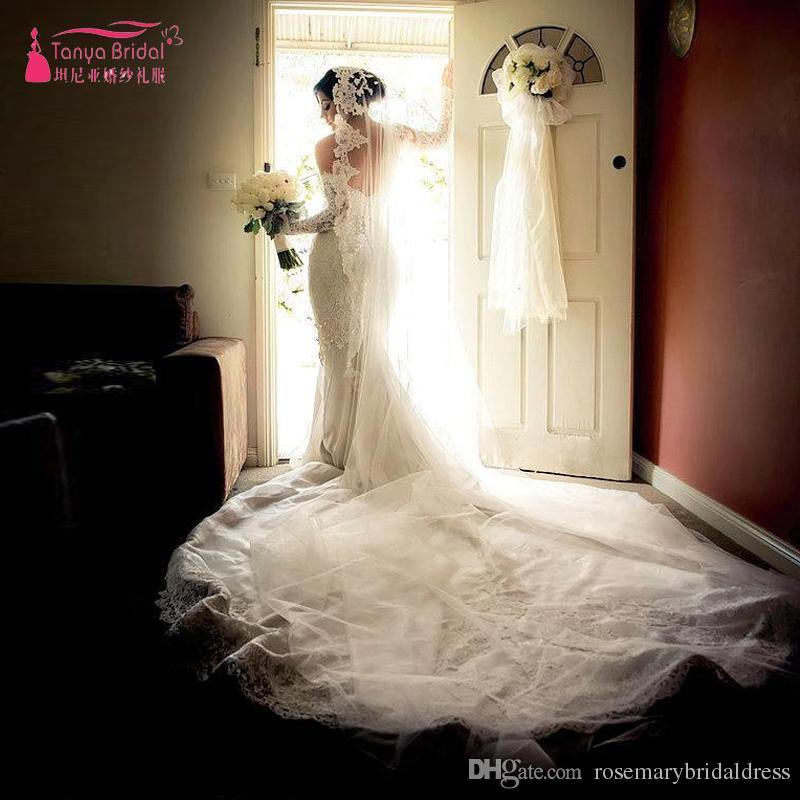 Cheap Photos Wedding Dresses 3d Discount Ivory Tiered Lace Wedding Dress a6d6d896fa61