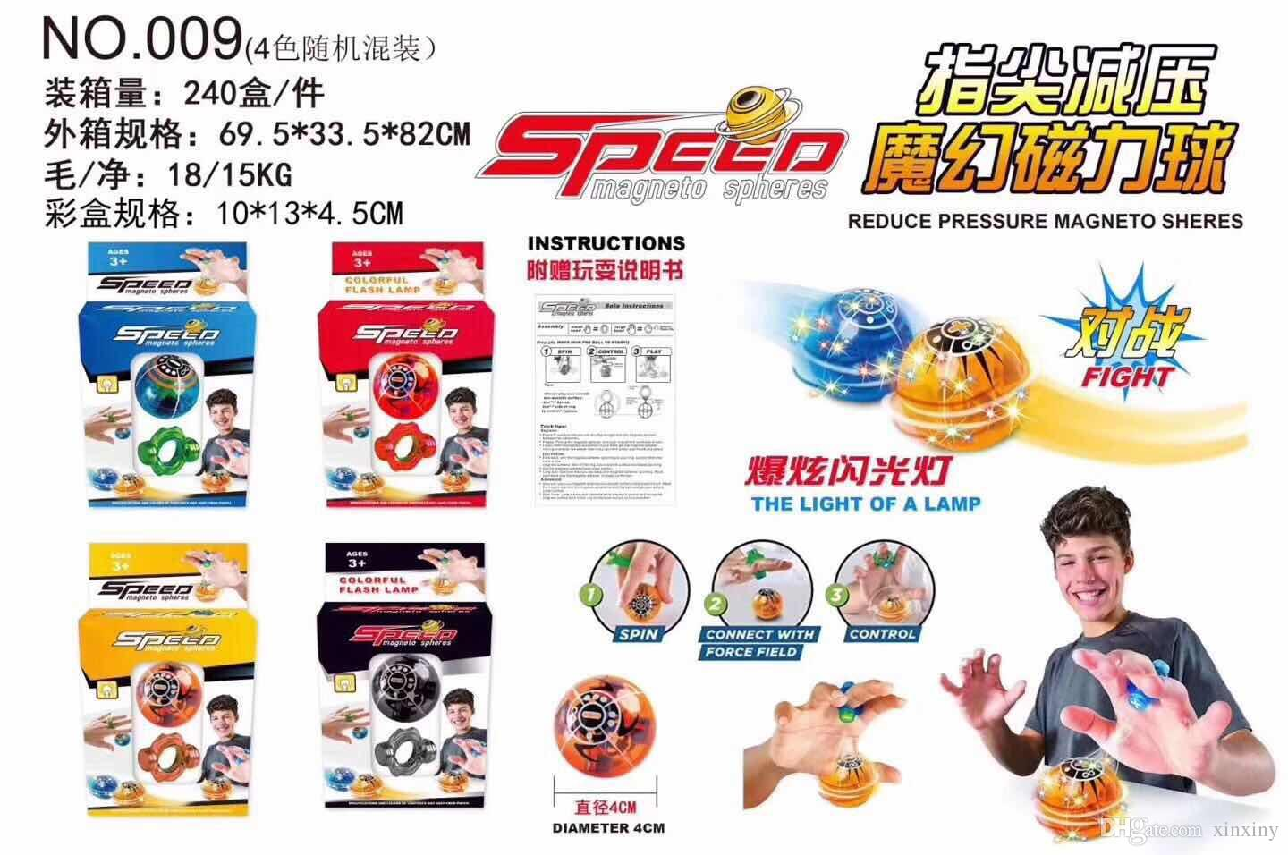 Wholesales magneto sphere Finger toys Fingertip decompression Magic Magnetic Ball pop flash lamp colorful pressure relief artifact