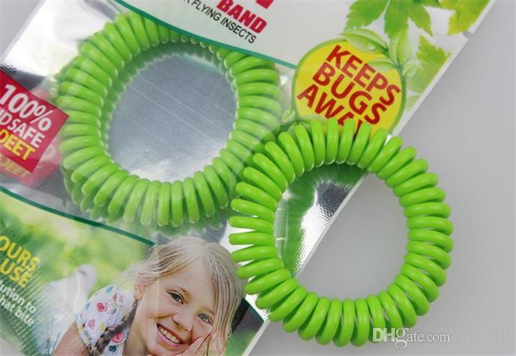 Nuova qualità buona zanzara Bracciali fascia repellente anti zanzara puri adulti e bambini naturali Wrist Band colori misti Pest Control i011
