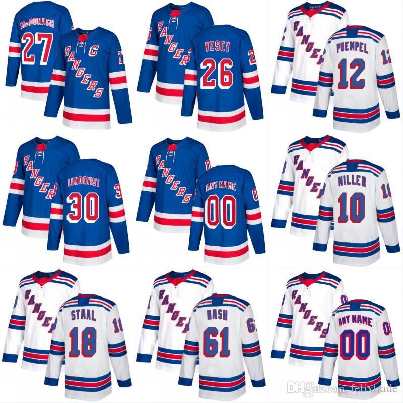 cheap for discount 62ae4 be03d 2018 Yeni Sezon New York Rangers 18 Marc Staal 30 Henrik Lundqvist 31  Ondrej Pavelec Özel Ev Away Hokey Formalar