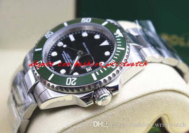 Mode Luxus 116610 Herrenuhr Green Lünette Keramik Edelstahl 40mm Automatische mechanische mechanische Männer Uhren Top Qualität