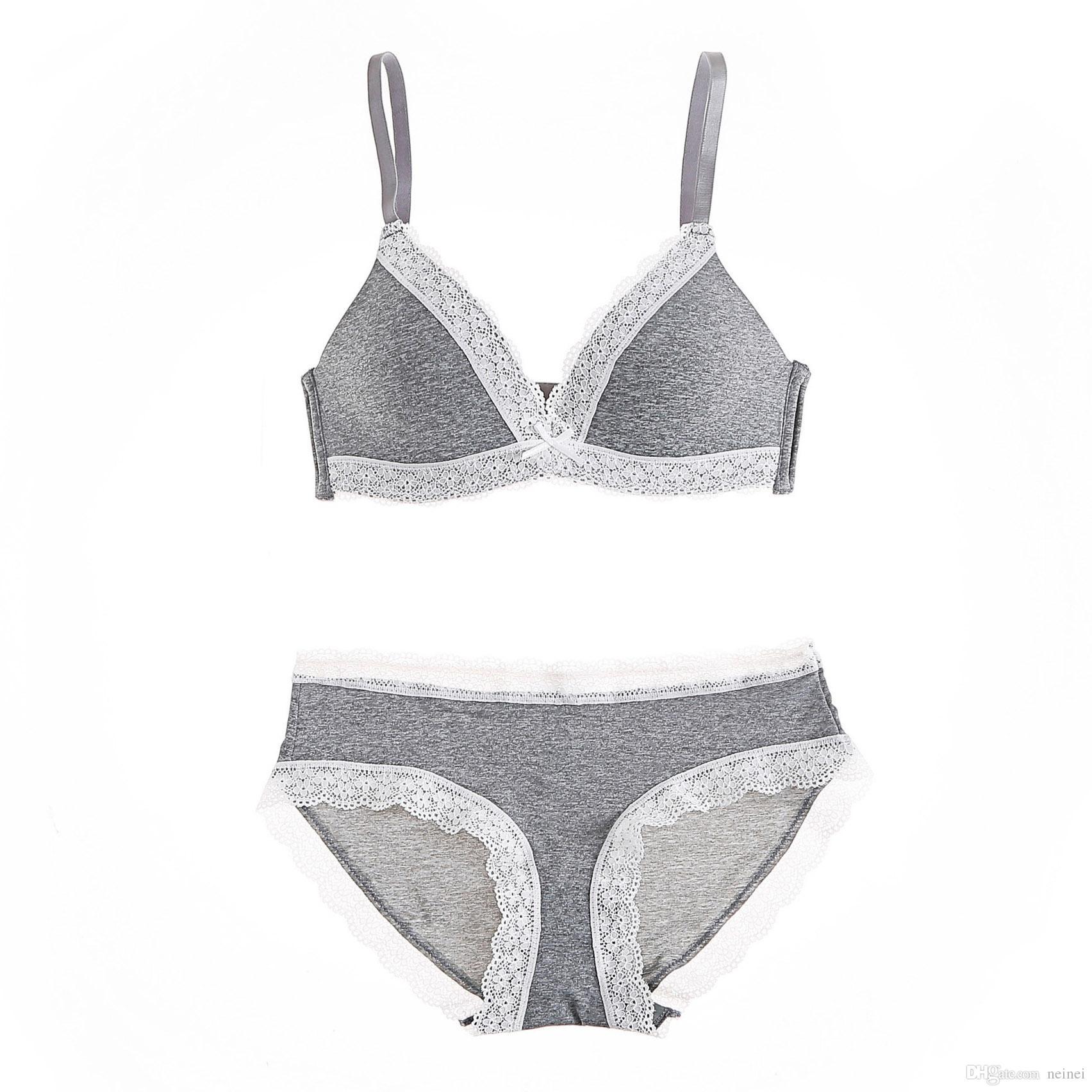 3553b91ed0e Lace Wire Free Women Sexy Fashion Sleep Underwear Sets Ladies Thin ...