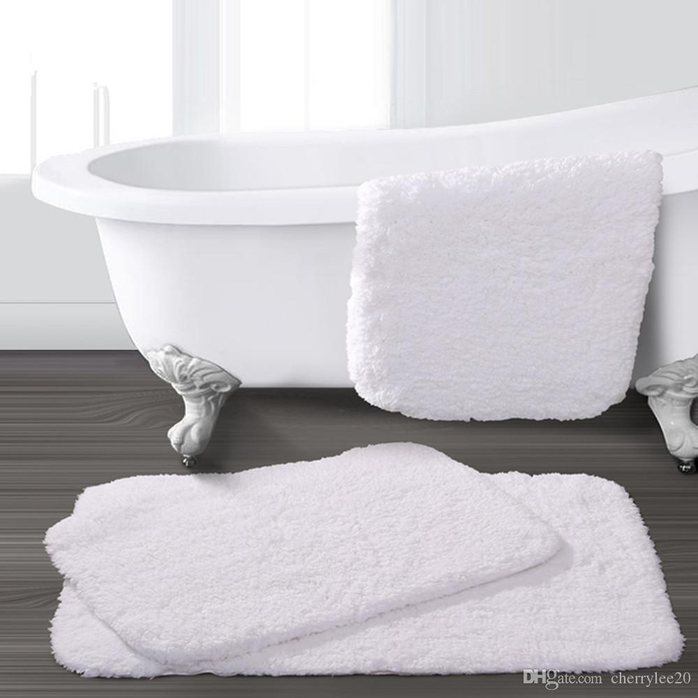2018 Bathroom Towel Mat Carpet Cotton Pad Toilet Rugs Mat Machine Washable  Sanitary Toilet Mat Rug Size:S 60*40cm From Cherrylee20, $20.11 | Dhgate.Com