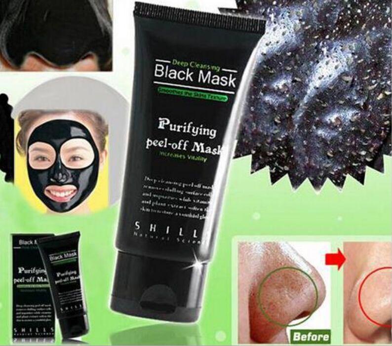 Hot Selling 50ml SHILLS Deep Cleansing purifying peel off Black mud Facail face mask Remove blackhead facial mask Shills Masks DHL