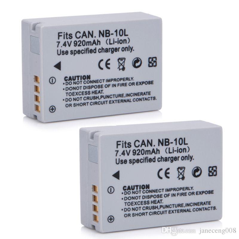7.4 V 920mAh NB-10L NB10L NB-10 NB10 Batería para la cámara Canon SX40 HS Baterías digitales nuevas