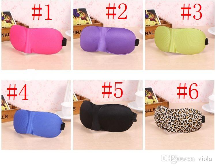 Máscara do sono 3D Viagem Resto Esponja 3D Máscara de Olho Preto Dormir Máscara de Olho Capa para cuidados de saúde para proteger a luz