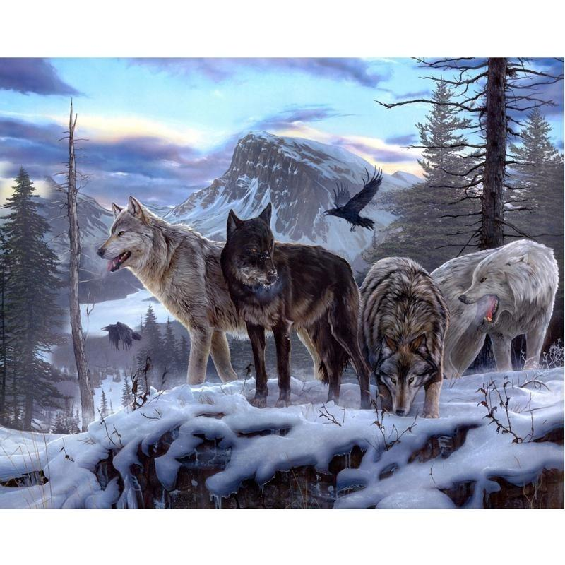 2017 Wolf Pack 100% Full Drill Diy Diamond Painting Embroidery 5d Cross  Stitch Crystal Square Home Bedroom Wall Decoration Decor Craft Gift From  Bjhappy, ... - 2017 Wolf Pack 100% Full Drill Diy Diamond Painting Embroidery 5d
