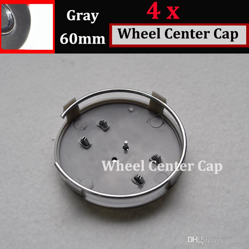 69mm 60MM Wheel Hub Emblem Cover Auto Wheel Center cap badge Covers car wheel hub cap black gray for A1/A2/A3/A4/A5/A6/A7/A8/Q1/Q3/Q5