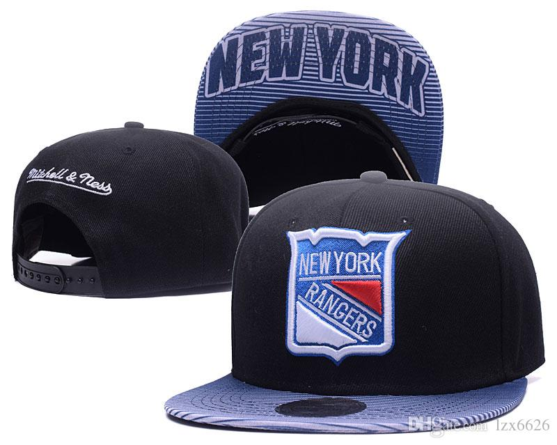 Men S Black Color New York Rangers Snapback Hats Sport NHL Hockey  Adjustable Baseball Caps Summer Outdoor Hat Mens Caps La Cap From Lzx6626 2aa0abce938